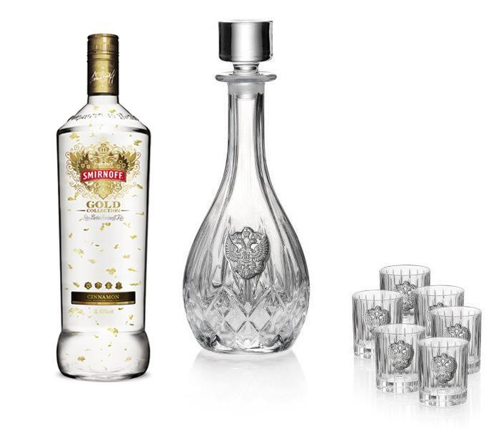 Vodka Eagle for Six by Valenti - Made in Italy & Smirnoff Gold 23K-big
