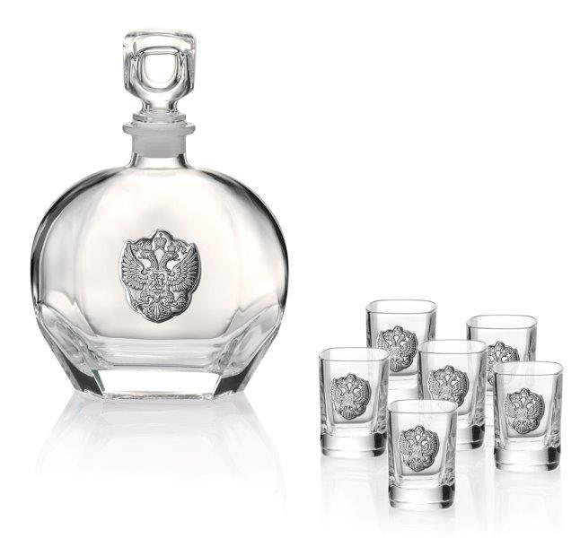 Set Vodka Eagle Round for Six by Valenti - Made in Italy-big