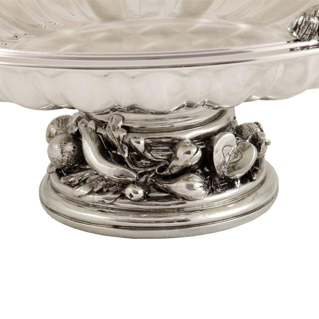 Silver Fruit Bowl Chinelli - made in Italy-big