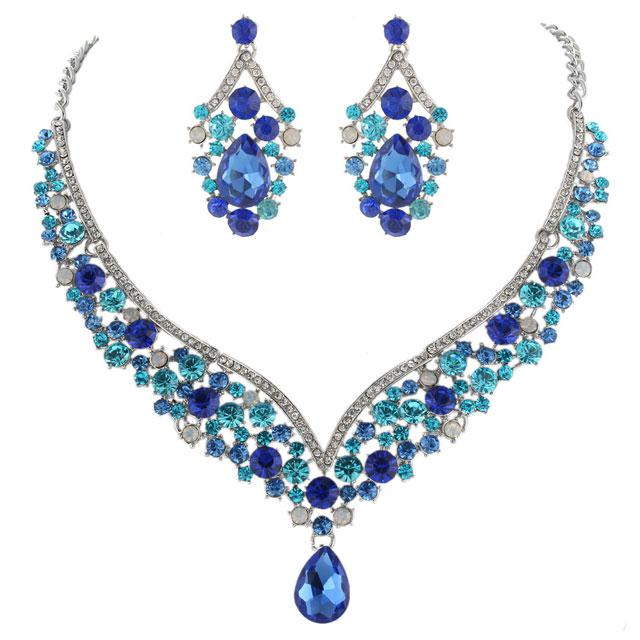 Sophisticated Blue Set colier si cercei Borealy-big