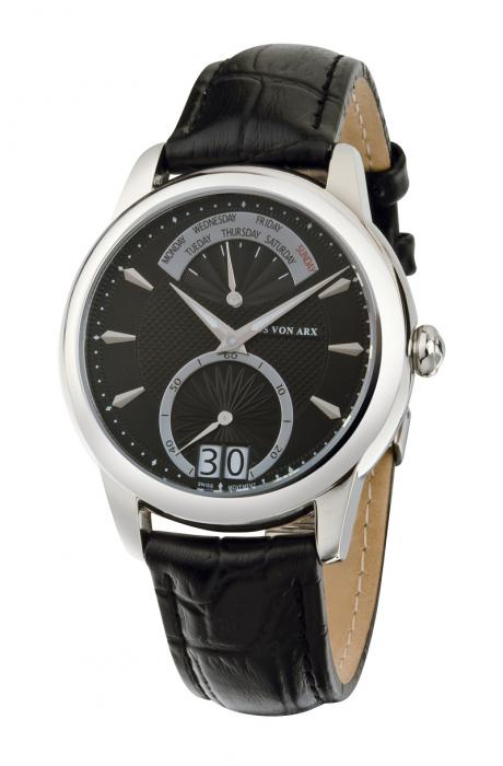 Watch Retrograde Black Jos von Arx-big