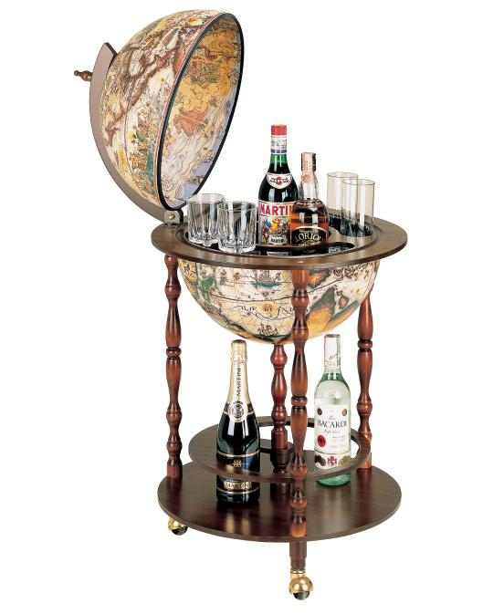 Vanesio Floor Globe Bar, by Zoffoli, made in Italy-big