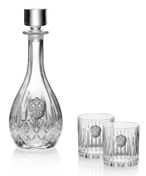 Whisky Crystal & Argint Set for Two by Valenti - Made in Italy-big