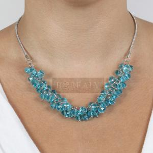 Colier Blue Bead1