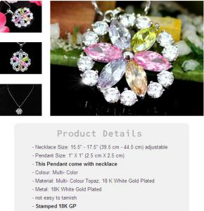 Medalion Fleur Multicolour CRYSTALLIZED™ - Swarovski Elements0