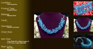 Colier Blue Bead2