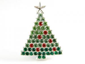 Brosa Christmas Tree CRYSTALLIZED™ - Swarovski Elements0