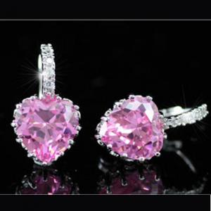 Cercei Borealy Sapphire Heart Pink4