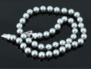 Perle Black Gray Colier CRYSTALLIZED™ - Swarovski Elements2