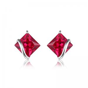 Borealy Red Merry Rubin Studs 6 carate Argint 9251