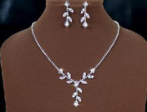 Set White Charismatic made with Swarovski Elements1