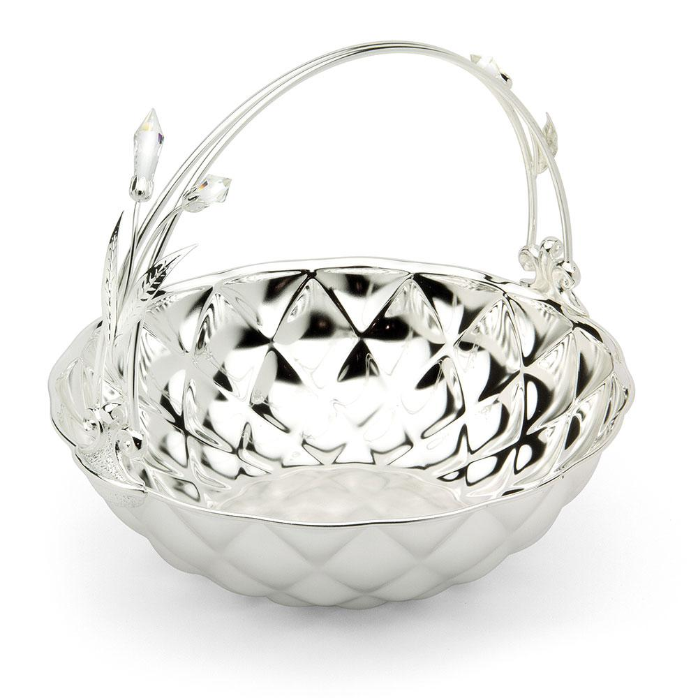 Basket Fruit Bowl Silver Plated by Chinelli   made in Italy
