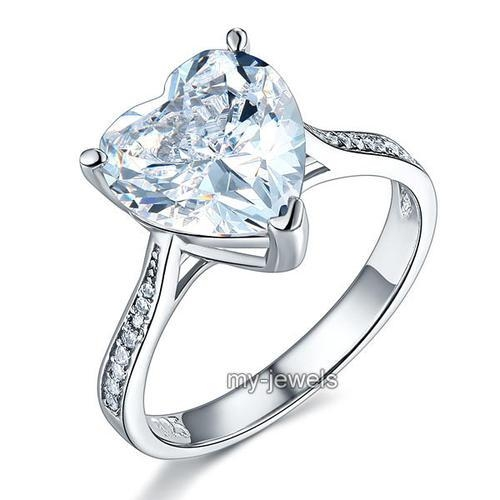 Inel Borealy Argint 925 Precious Crystal Heart  Masura 7