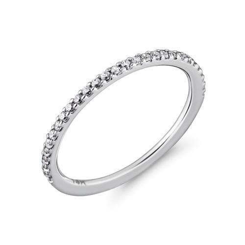 Inel semi eternity aur 14 k cu diamante