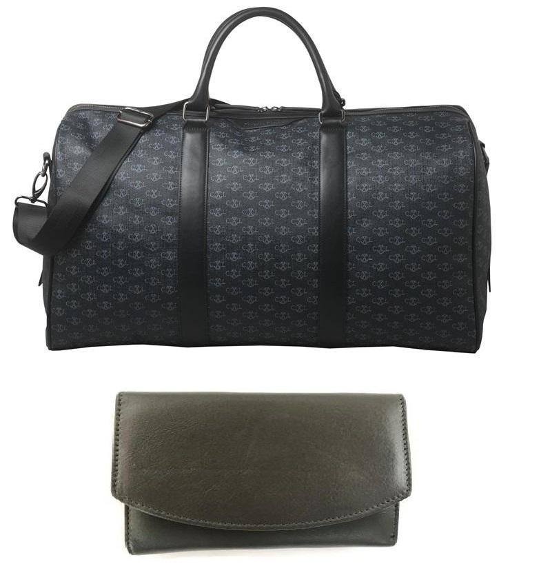 Luxury Travel Bag Christian Lacroix si Portofel piele naturala   personalizabil
