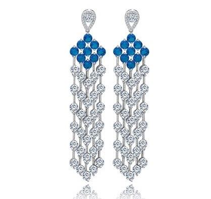 Cercei Borealy Chandelier Fancy Blue Crystal